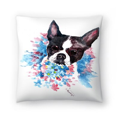 Boston Terrier Throw Pillow Size: 14 x 14