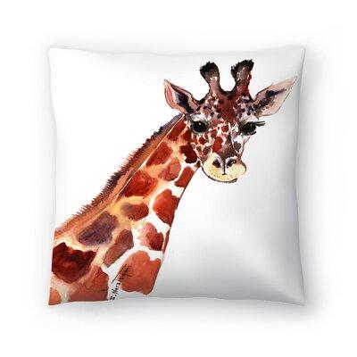 Giraffe 1 Throw Pillow Size: 14 x 14