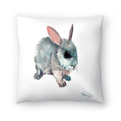 Bunny 2 Throw Pillow Size: 18 x 18