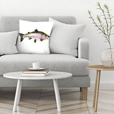 Rainbow Trout 2 Throw Pillow Size: 16 x 16