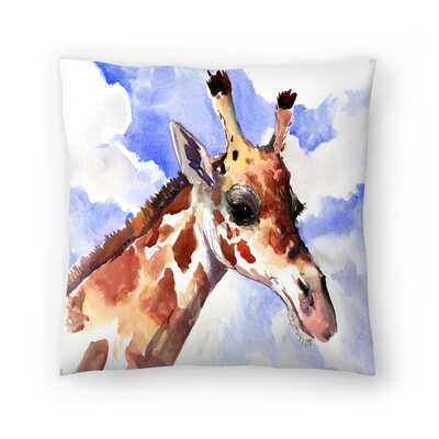 Giraffe 2 Throw Pillow Size: 18 x 18
