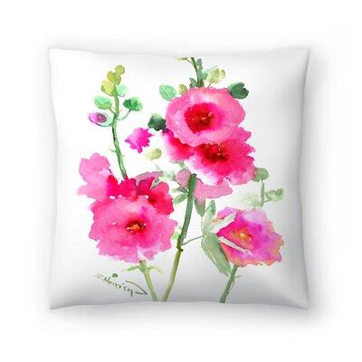 Hollyhock Throw Pillow Size: 18 x 18