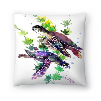 Turtle Throw Pillow Size: 14 x 14