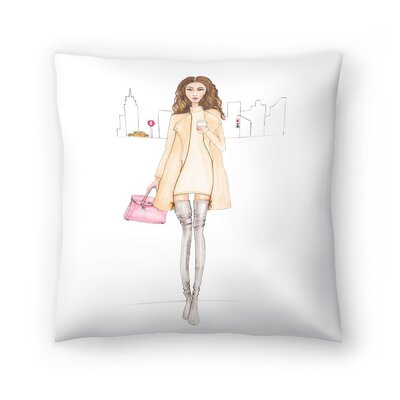 Nyc Chic Throw Pillow Size: 14 x 14
