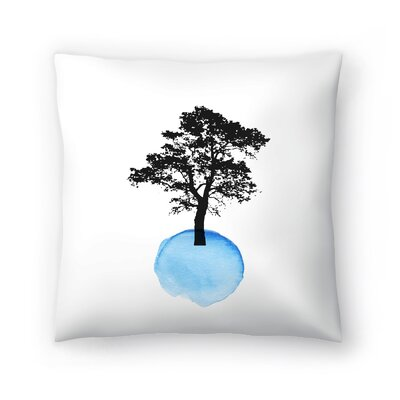 Blue Tree Throw Pillow Size: 20 x 20