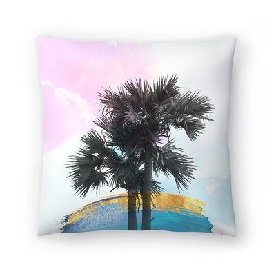 Colorful Palm Tree Throw Pillow Size: 14 x 14