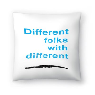 Diversity Quote Throw Pillow Size: 20 x 20
