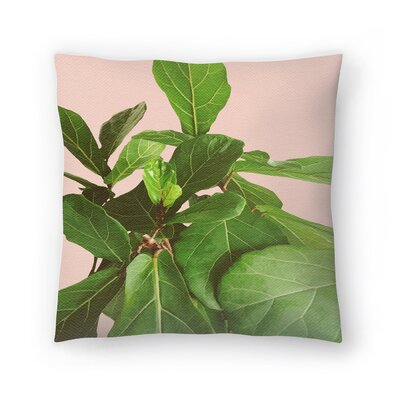 Fiddle Leaf Fig Throw Pillow Size: 16 x 16
