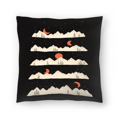 Moon Rises Moon Sets Throw Pillow Size: 16 x 16