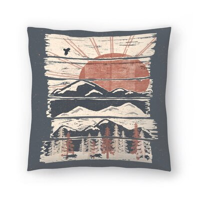 Winte R Pursuits Throw Pillow Size: 14 x 14