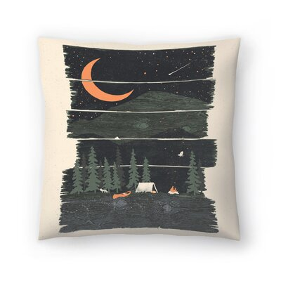 Wish I Was Camping Throw Pillow Size: 16 x 16