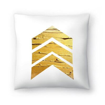 Chevrons Wood Throw Pillow Size: 16 x 16, Color: White