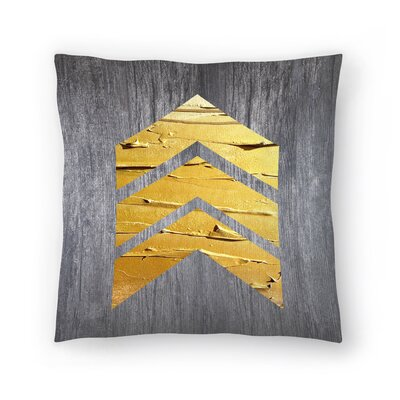 Chevrons Wood Throw Pillow Size: 14 x 14, Color: Gray