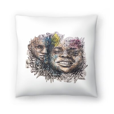 Greek Graffiti Throw Pillow Size: 20 x 20