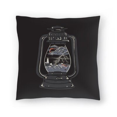 Storm Lantern Throw Pillow Size: 16 x 16
