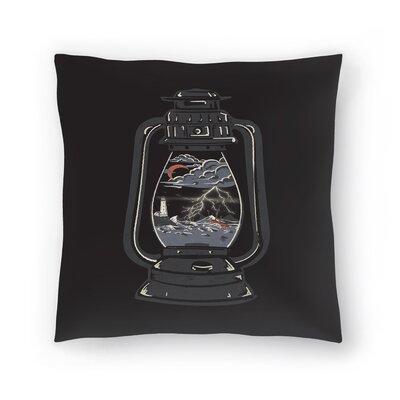 Storm Lantern Throw Pillow Size: 18 x 18