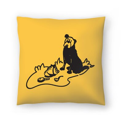 Curious Hound Of Baskervilles Throw Pillow Size: 14 x 14