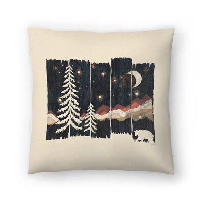 Starry Night In The Mountains Throw Pillow Size: 16 x 16