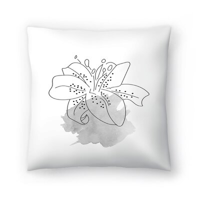 Gray Lilly Throw Pillow Size: 16 x 16
