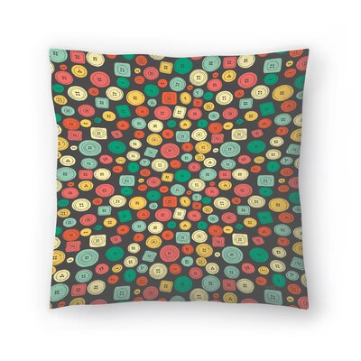 The Other Buttons Throw Pillow Size: 14 x 14