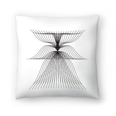 Linear Flower Throw Pillow Size: 16 x 16