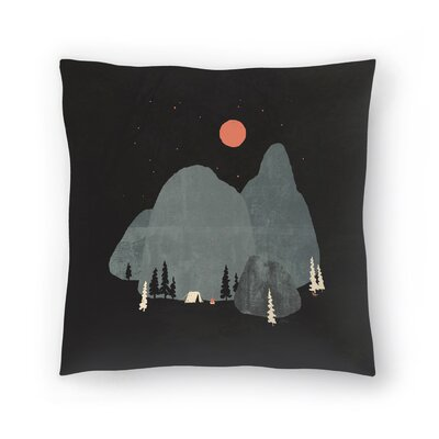 Last Night At Big Rock Throw Pillow Size: 18 x 18