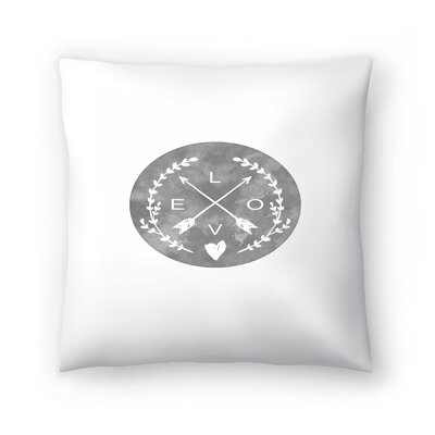 Love Arrows Throw Pillow Size: 14