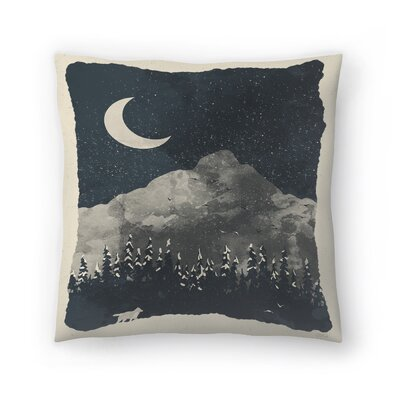 Winter Finds The Wolf Throw Pillow Size: 20 x 20