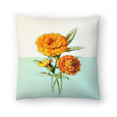 Marigold Yellow Throw Pillow Size: 18