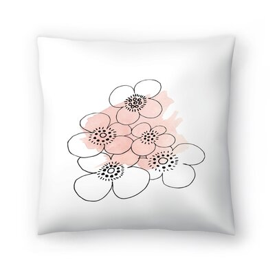 Minimalist Flowers Throw Pillow Size: 16