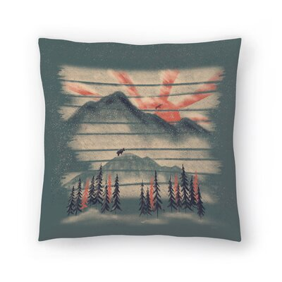 Mountain Goat Drifter Throw Pillow Size: 16 x 16