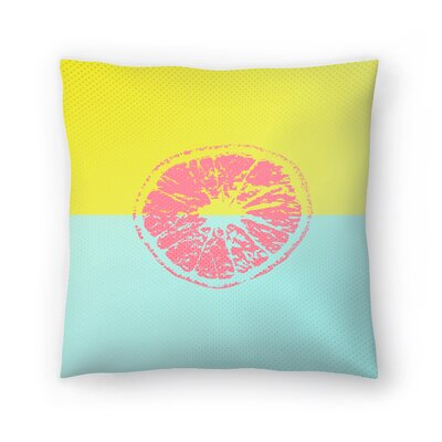 Pink Grapefruit Throw Pillow Size: 14 x 14