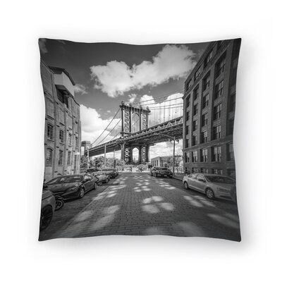 New York City Manhattan Bridge Throw Pillow Size: 16 x 16