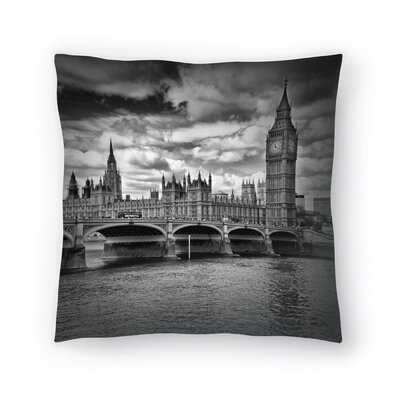 London Houses Of Parliament & Westminster Bridge Throw Pillow Size: 18 x 18