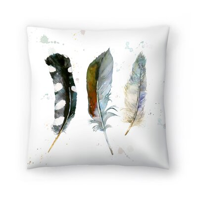Feathers 1 Throw Pillow Size: 20 x 20