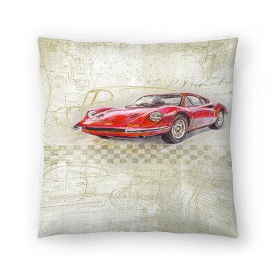 Ferrari Dino Gt Throw Pillow Size: 20 x 20