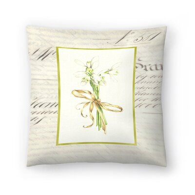 Snowdrops Throw Pillow Size: 16 x 16