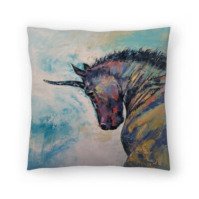 Unicorn Throw Pillow Size: 18 x 18