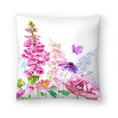 Foxglove Floral Throw Pillow Size: 18 x 18