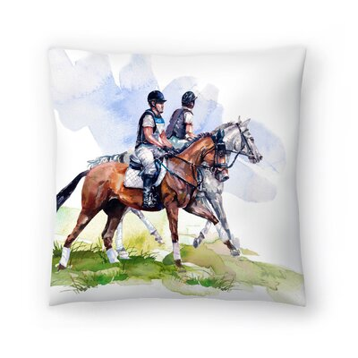 Morning Gallop Throw Pillow Size: 16 x 16