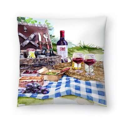 Picnic Throw Pillow Size: 16 x 16