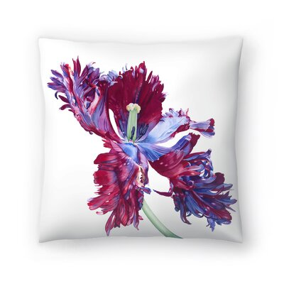 Parrot Tulip No 3 Throw Pillow Size: 20 x 20