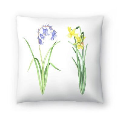 Flowers Throw Pillow Size: 18 x 18
