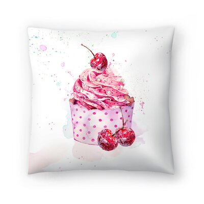Cupcake Throw Pillow Size: 14 x 14