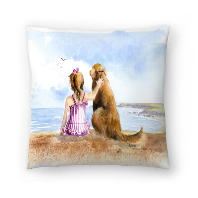A Girls Best Friend Throw Pillow Size: 14 x 14