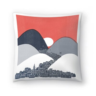 Midnight Sun Throw Pillow Size: 18