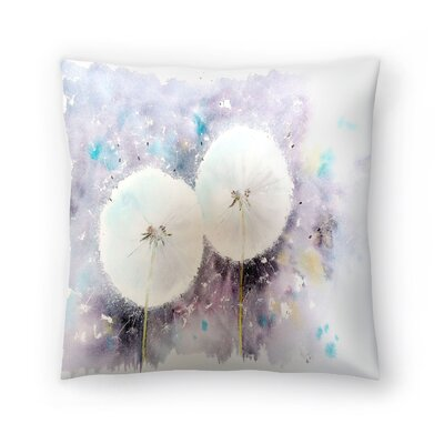 Dandelion Clocks Throw Pillow Size: 14 x 14