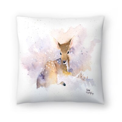 Baby Deer Throw Pillow Size: 14 x 14