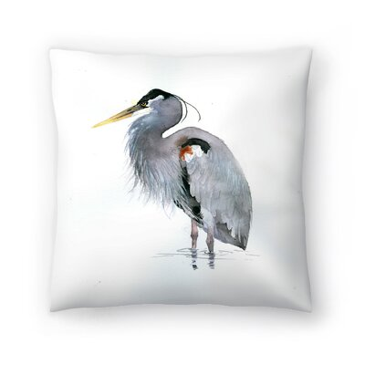 Heron Throw Pillow Size: 16 x 16