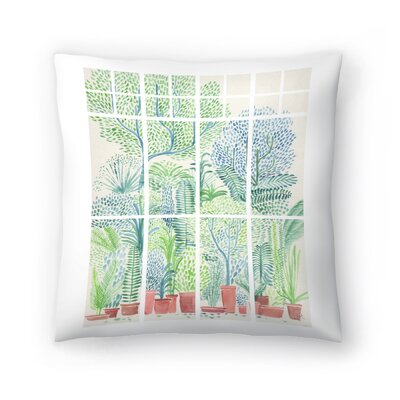 Winter In Glasshouses 1 Throw Pillow Size: 16 x 16